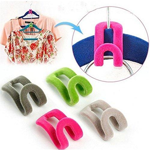 eqlefr-1-bag-of-10-pcs-creative-mini-flocking-hook-closet-home-mini-cascading-hook-flocking-hanger-h