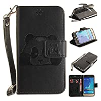 Samsung Galaxy J1 2016 Case, Premium Quality Leather Wallet Case Cover Comes with Galaxy J1 Screen Protector & Card Holder / Galaxy J1 2016 Case Black