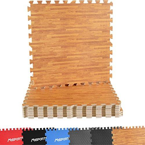 MSPORTS Bodenschutzmatten Set Premium - 8 Schutzmatten in verschiedenen Farben 3,175m² |...