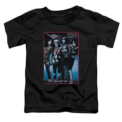 Kiss - Kleinkinder Spirit Of 76 T-Shirt Black