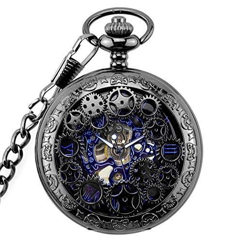 Q store Pocket watch Mit Kette Hohl Taschenuhr Herren Damen Modelle Universal Taschenuhr Flip Student Mechanische Taschenuhr