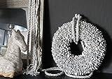 Homeclassics weiß Shabby Blüten Kranz altweiß Türkranz Wandkranz Ø 30 cm Naturkranz Landhaus