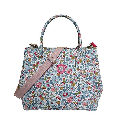Bonfanti Liberty Betsy drucken tote Handtasche . Schultertasche - Rosa (Geprägte Tote Gefüttert)