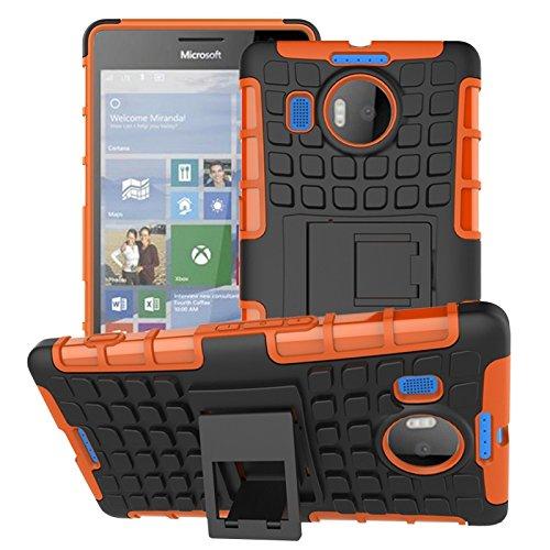 YHUISEN Lumia 950 XL Case, Dual Layer Rüstung Schockabsorbierende Schutzhülle mit Kickstand Für Microsoft Lumia 950 XL ( Color : Purple ) Orange