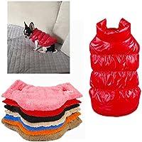 Kismaple Perro de mascota / gato Chaqueta de abrigo Impermeable Winter Warm Jackets Abrigos Chaleco Medio/Grande para perros Rojo L Cofre: 49-51CM