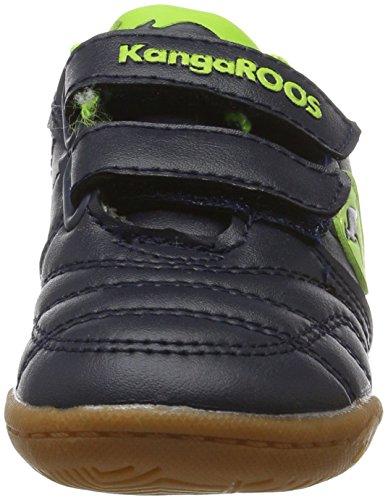 KangaROOS Babycourt, chaussons d'intérieur mixte enfant Blau (Royal/Lime)