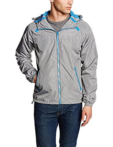 SUPERDRY Herren Regenjacke Dual Zip Through Tri Colour CA, Grau