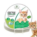 HOMIMP - Collar para Gatos con pulgas y garrapatas (Base de aceites Esenciales Naturales, prevención de pulgas y garrapatas, para Gatos, protección de 8 Meses, 33 cm)