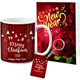 VESPL Lof Christmas And New Year Wish Message Card Mug Keychain