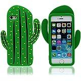 Funda para Apple iPhone 5 5S 5C SE ( Verde ), Cactus Apariencia, Alta Calidad Silicona Gel Cómodo Tacto Suave Dibujos Animados Animal Estilo Carcasa protectora