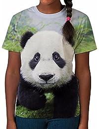 Tshirt imprimé partout pour fille Bébé Panda Haut imprimé Vêtements été