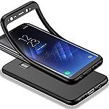 HICASER Galaxy S8 Hülle, Matte Finish Dünn Shockproof Anti Slip & Anti Fingerabdruck Soft TPU Schutzhülle für Samsung Galaxy S8 Schwarz
