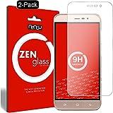nandu I ZenGlass [2 Stück] Flexible Glas-Folie für Medion Life E5006 Panzerfolie I Bildschirm-Schutzfolie 9H