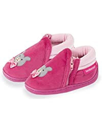 Isotoner Chaussons bottillons zip fille ourson Fille