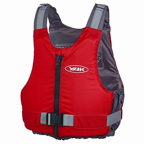 Soles Up Front Schwimmweste für Erwachsene (50N) oder Kinder (30-50N), für Jet Ski / Windsurfen / Wasserski / Fischen etc., kompakt, entspricht EN393 XX-Large rot / schwarz