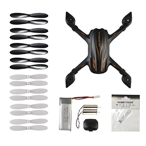 H107P Drone Quadcopter Crash Pack Replace Spare Parts Propeller Prop Battery Motor Body Shell (Prop Body Parts)