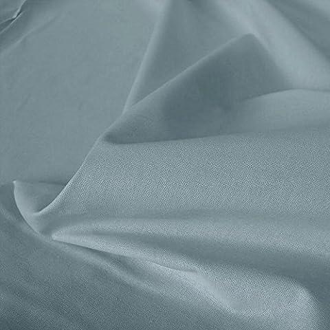 TOLKO Baumwoll-Stoff Meterware, der leichte Klassiker zum Nähen, reine Baumwolle mit Oeko-Tex® Standard 100 (Blau-Grau)