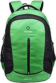 حقيبة ظهر عادية ناعمة من مورانو مع 3 جيوب وبوليستر مقاومة للماء 33 لتر - لون أخضر