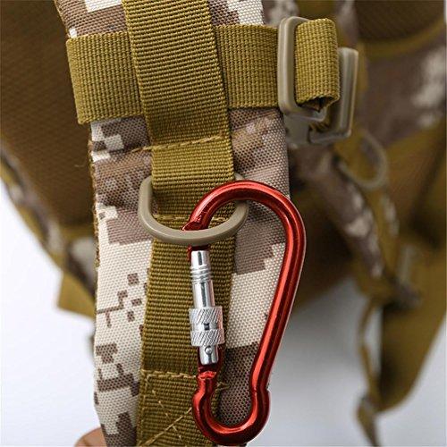 F@Camuffamento digitale Zaini alpinismo casual, assalto militare tattico outdoor zaino zaino borsa campeggio , D A