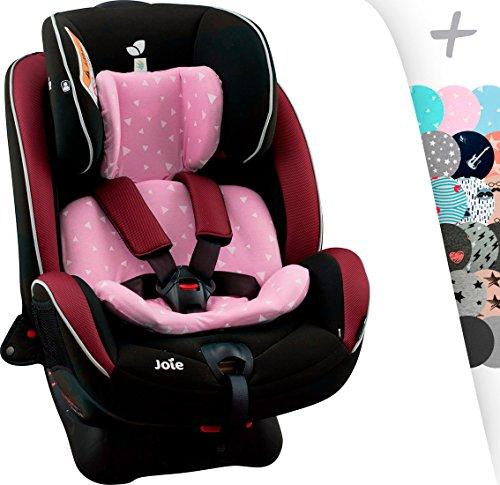 JANABEBE Baumwollbezug für Auto-Sitzverkleinerer Joie Stages, Every Stages (PINK SPARKLES)