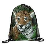 Etryrt Prime Sacs à Cordon,Sac à Dos, Tigers Snow Leopards Painting Art Print Drawstring Backpack Rucksack Shoulder Bags Gym Bag Sport Bag