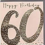 Belly Button Designs hochwertige Glückwunschkarte zum runden 60. Geburtstag aus der Paloma-Serie mit Prägung, Folie und Kristallen BB471