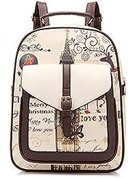 Minetom Pu Cuero Backpack Mochilas Escolares Mochila Escolar Casual Bolsa Viaje Moda Colegio Estilo Clamshell Mujer