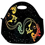 Snoogg Creative Artwork With Shiny Background Travel Outdoor Carry Lunch Bag Picnic Tote Box Container Zip Out Removable Carry Lunchbox Handle Tote Lunch Bag Food Bag For School Work Office