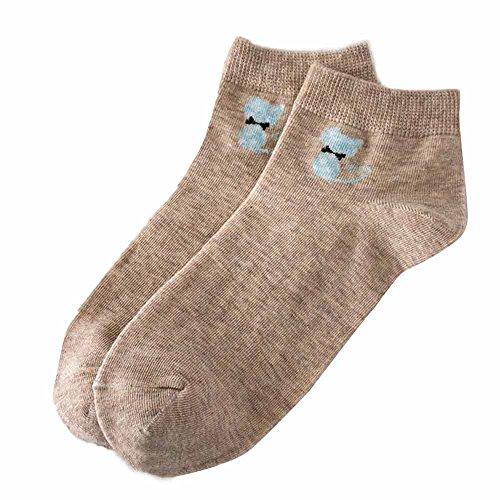TEBAISE Damen Mädchen Sneakersocken Sportsocken Streifen Baumwollsocken Sneaker Socken Füßlinge Shallow Mund Socken Unsichtbare Socken