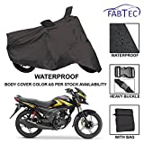 #7: Fabtec Premium Quality Waterproof Double Stiched Bike Body Cover With Heavy Buckle Lock & Storage Bag For Honda Shine SP