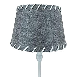 ARTHOME Home Art Design Felt Lampshade In Grey With Stitching 24 X 16 cm Wide