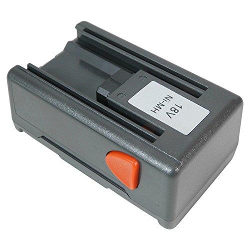 Trade-Shop Hochleistungs Ni-MH Akku 18V/1500mAh ersetzt Gardena 8834-20 für Gardena 648844, 648872, Heckenschere EasyCut 42 Accu (8872), Turbotrimmer SmallCut 300 Accu (8844)