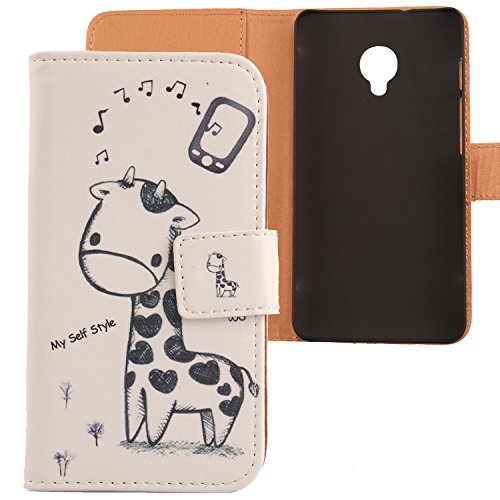 Lankashi PU Flip Leder Tasche Hülle Case Cover Schutz Handy Etui Skin Für Alcatel One Touch POP UP OT-6044D 5
