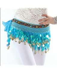 Cinturón danza del vientre , lake blue