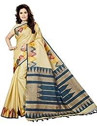 Rani Saahiba Art Bhagalpuri Silk Printed Saree