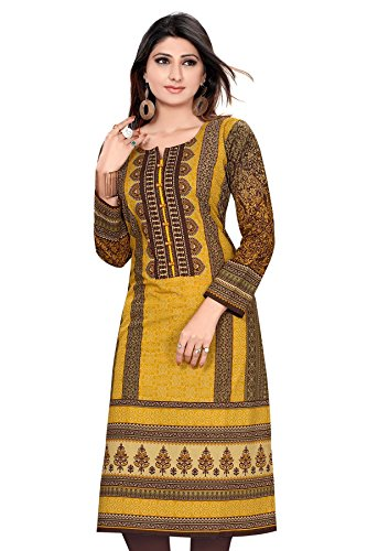 Alc-Creation-Womens-Cotton-Kurti-AL0372-XXLBrown
