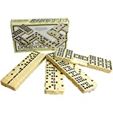 Double Nine Domino Set -Classic set with brass spinners by House of Marbles