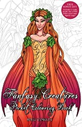 Fantasy Creatures Pocket Colouring Book: Miniature Creative Art Therapy For Adults: Volume 8 (Colouring Books for Grownups)