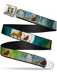 Buckle Down Seatbelt Lion King Kids Belt
