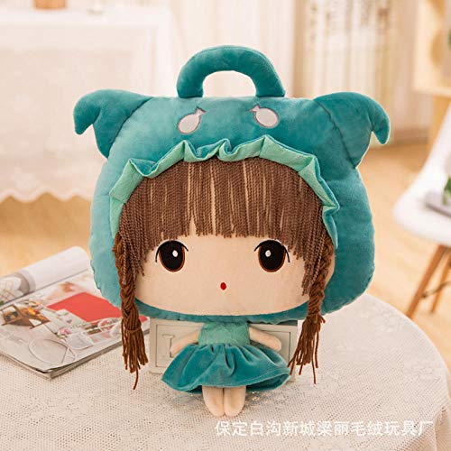 NIANMEI Plush Toys _ Cartoon 12 Constellation Air Conditioning is Flannel Three-Dimensional Pillow Feier Plush Toy Doll Custom@Libra_Blanket 110*160Cm