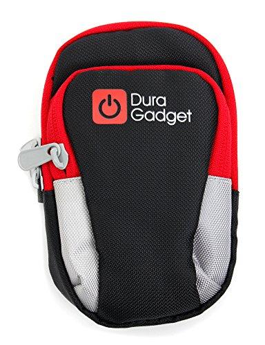 DURAGADGET - schwarz/grau/rote gepolsterte Hülle für Ihren Inhalator
