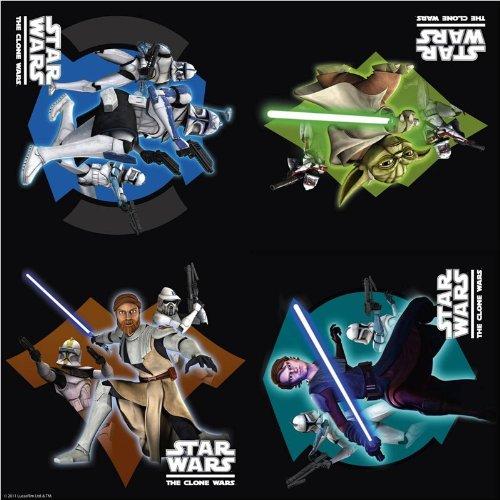 Partyzubehör - 16 Stück Servietten - Star Wars - Clone Wars