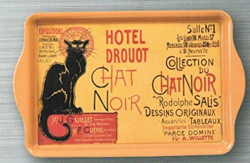 Plateaux/Vide poches Plateau Metal 20X33cm PUB Retro Collection Chat Noir Vente Hotel DROUOT