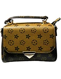 FASHION Abstract Leather DUAL TONE Cross Body Sling Bag For Girls & Women BOTH