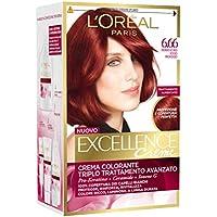 L'Oréal Paris Excellence Crema Colorante Triplo Trattamento Avanzato, 6.66 Rosso Profondo