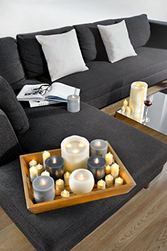 Conjunto de 8 Sompex Flame velas de té LED con mando a distancia