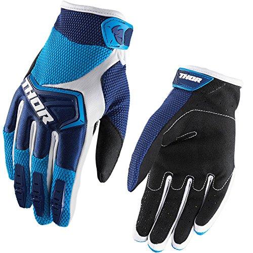Preisvergleich Produktbild Thor Spectrum 2018 Motocross Handschuhe Crosshandschuhe Quad Offroad Enduro ATV Fahrrad Mountainbike Downhill Schwarz Rot Weiß Blau Grün Orange Gelb XS S M L XL XXL 2XL (L,  Blau)