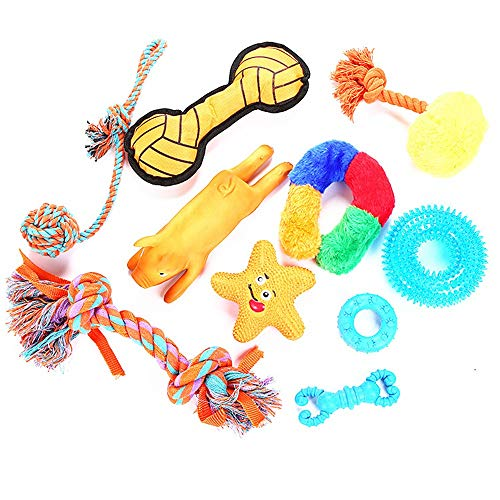 Ich werde jetzt Maßnahmen ergreifen Haustier Spielzeug Kombination Set TPR Latex Hundespielzeug Molaren Zähne Reinigung Biss Dog Training Requisiten 10 ()