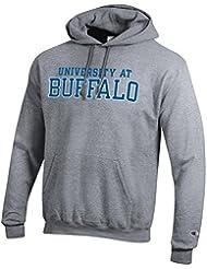 Universidad en Buffalo Marca NCAA sudadera con capucha gris, Gris