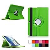 COOVY® Cover für Samsung Galaxy TAB 4 10.1 SM-T530 SM-T531 SM-T535 Rotation 360° SMART HÜLLE Tasche ETUI CASE Schutz STÄNDER | Farbe grün